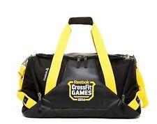NWT Reebok CrossFit Games Duffle Black/Yellow Grip Gym Fitness Bag Elite! Rare!
