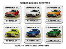 VALIANT  CL  CHARGER   CHYRSLER    SET OF  6   QUALITY RUBBER DRINK  COASTERS