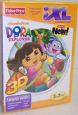 """NEW! Fisher Price IXL Learning System """"Dora The Explorer"""" CD-ROM {2842}"""