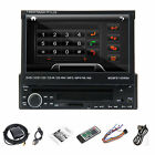 "7"" HD SCREEN SINGLE 1DIN CAR DVD PLAYER BLUETOOTH SD USB RADIO MP3 CD STEREO Aux"
