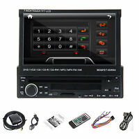 "7"" 1 Din In Dash HD Car DVD CD USB SD Player BT Radio RDS Bluetooth Touch Screen"