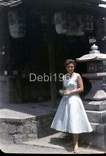 SL25  VINTAGE 35MM ORIGINAL SLIDE 1950'S JAPAN JAPANESE PRETTY GIRL 793A