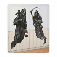 HALLOWEEN PARTY GOTHIC CEMETERY HAUNTED GRIM REAPER WALL SCENE ROOM DECORATION