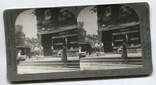 ANTIQUE PHOTO AMERICANA GROCERY STORE DELIVERY. STEREOVIEW.