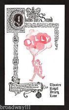 "Michael Crawford ""BILLY"" Elaine Paige / John Barry 1975 London Cast Playbill"