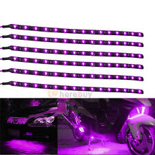 12x Waterproof 12''/15 DC 12V Motor LED Strip Underbody Light For Car Motorcycle