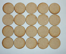 20 x LASER CUT WOODEN DISCS / CIRCLES 30mm Dia(no holes) 3mm MDF