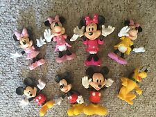 MICKEY MINNIE: LOT DE 2 FIGURINES PRESTIGE ARTICULÉES, NEUVES