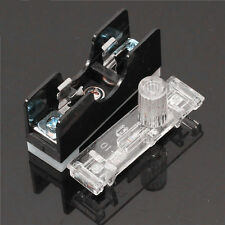 2PCS FS101 10A Fuse Socket Applied With Indicator Light DIN RAIL Mounted 6*30mm