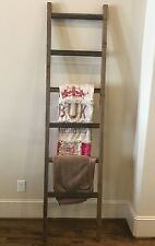 Rustic Handmade Weathered 6 Foot Wood Blanket/Quilt/Towel Ladder FREE US SHIP!!