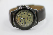 VTG MENS TIMEX EXPEDITION INDIGLO WR 50M QUARTZ WATCH BROWN NEW BATERY