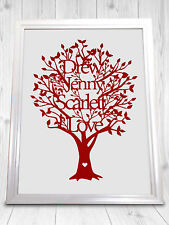 Home Sweet Home New House Family Tree A4 Personalised Gift Print