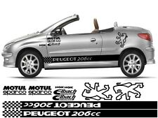 PEUGEOT PUG 206cc KIT x14pc GRAPHICS STICKERS 106 107 205 206 306 307 308 406
