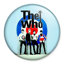 "The Who 25mm 1"" Pin Badge Button Retro Punk Rock New Wave Music Mod"