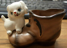 Puppy Dog on Shoe Figure, Phil Padel, Japan, 1950's