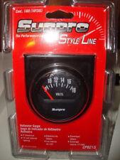 """Sunpro 2"""" Voltmeter 12V Black / Black Bezel New CP8215~ New"""