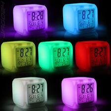 LED Wecker Würfelwecker Farbwechsel Uhr Alarmwecker Thermometer Kalender Digital