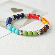 7 colores 8mm Perlas  Yoga Pulsera de piedra natural Brazalete Bracelet