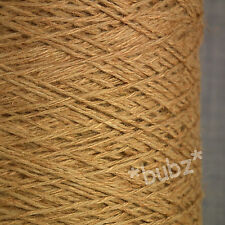 SOFT 4 PLY LINEN VISCOSE YARN 500g CONE 10 BALLS COPPER BROWN KNIT CROCHET WEAVE