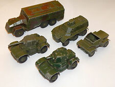 Dinky Toys Command Vehicle / Personnel Carrier / Scout Car/ Armoured Car (2 off)