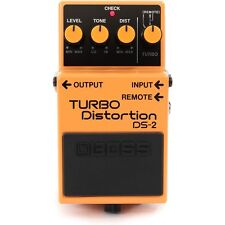 BOSS DS-2 Turbo Distortion Flat Frequency Response Guitar Effects Stompbox Pedal