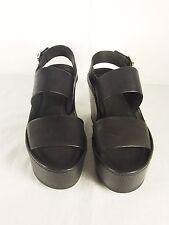 VINCE Idalia Platform Wedge Sandals  Black Sz 9.5  Reg$350.00