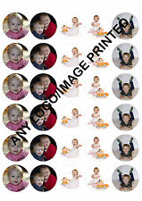 30 x  4cm ROUND PERSONALISED EDIBLE RICE PAPER CUPCAKE FAIRY CAKE BUN TOPPERS