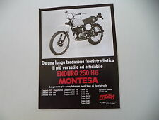 advertising Pubblicità 1978 MOTO MONTESA ENDURO 250 H6