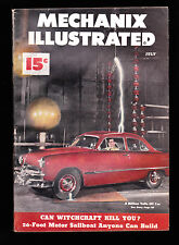 July1949 Mechanix Illustrated- Witchcraft, 3 Million Volts hit Car