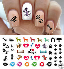 I love My Dog Paw Prints Nail Art Waterslide Decals - Salon Quality!