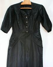 Robe du soir taffetas noir vintage 1960