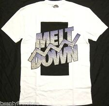 NWT $30 Topman by Topshop Meltdown Oversized T Shirt in White sz XXS