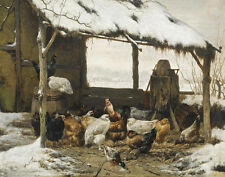 Eugene Remy Maes Chickens Print 11 x 14   #4928