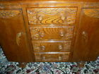 Vintage Antique VERY Heavy Ornate Wooden Sideboard cabinet - Shabby Chic Project