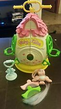 Vintage 1987 Hasbro Fairy Tails Bird Curly Q Boutique Egg House Playset Lot