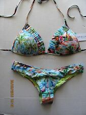NWT SEAFOLLY South Pacific Bikini Swim Bathing Suit Brazilian Cheeky Soft Cup 8