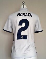 REAL MADRID 2016/17 S/S HOME SHIRT MORATA 2 BY ADIDAS SIZE BOYS 13/14 YEARS NEW