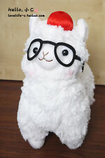 "4"" Pacalatta Alpacasso Llama Glasses Hat Stuffed Plush Pendant Doll Fluffy Toy"