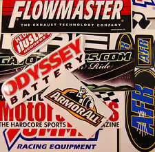 **GRAB BAG**LOT OF 25** RACING STICKERS RACE CAR WINDOW DECALS NHRA IHRA NASCAR