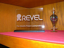REVEL LOUDSPEAKERS ETCHED GLASS AUDIO SIGN