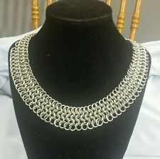 Stainless Steel European 4 in1 Chain Maille Necklace  Made in USA Chainmaille