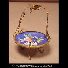 Antique Victorian Ladies Porcelain & Wire Lapel / Pocket Watch HOLDER