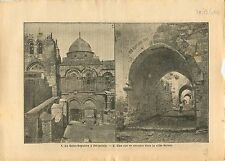 WWI Église Saint-Sépulcre Holy Sepulchre Jerusalem Palestine 1917 ILLUSTRATION