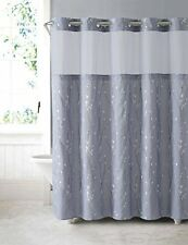 Arcs Angles Hookless Cherry Bloom Shower Curtain with Peva Liner Purple Grey