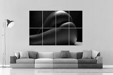 SEXY GIRL BLACK EROTIC BEAUTIFUL BOOTY Wall Art Poster Grand format A0
