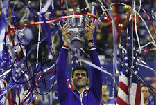 Novak Djokovic Signed 12X8 PHOTO Genuine Autograph AFTAL COA (A)