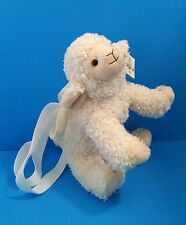 "Unipak Designs 10"" Cream Lamb/Sheep Shoulder Jr. Bag Plush with TAGS!"
