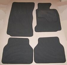 BMW E60 5 SERIES 03-10 INCL. M SPORT GREY VELOUR CAR MATS SET OF 4 + VELCRO PADS