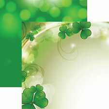Reminisce LUCKY DAY 12x12 Dbl-Sided (2pc) Scrapbooking Paper CLOVER