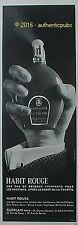 GUERLAIN PUBLICITE DE 1966 FRENCH AD ADVERT HABIT ROUGE EAU DE COLOGNE PUB